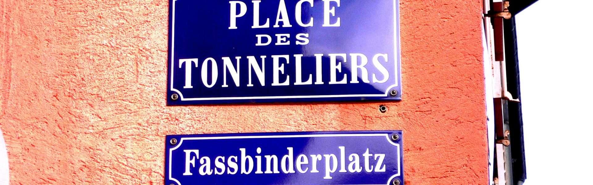 Plaques bilingues de Mulhouse